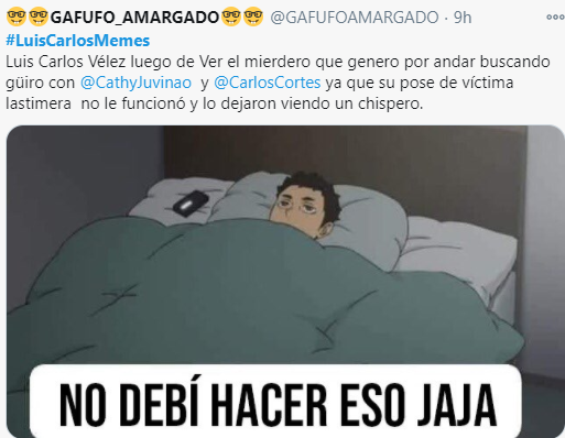 Luis Carlos Velez Memes y la pelea con Twitteros que no acabara