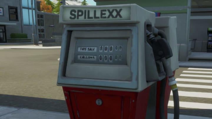 Ejemplo de una bomba de gasolina en Fortnite.