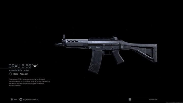 Clasificación de rifles de asalto de zona de guerra mayo 2021