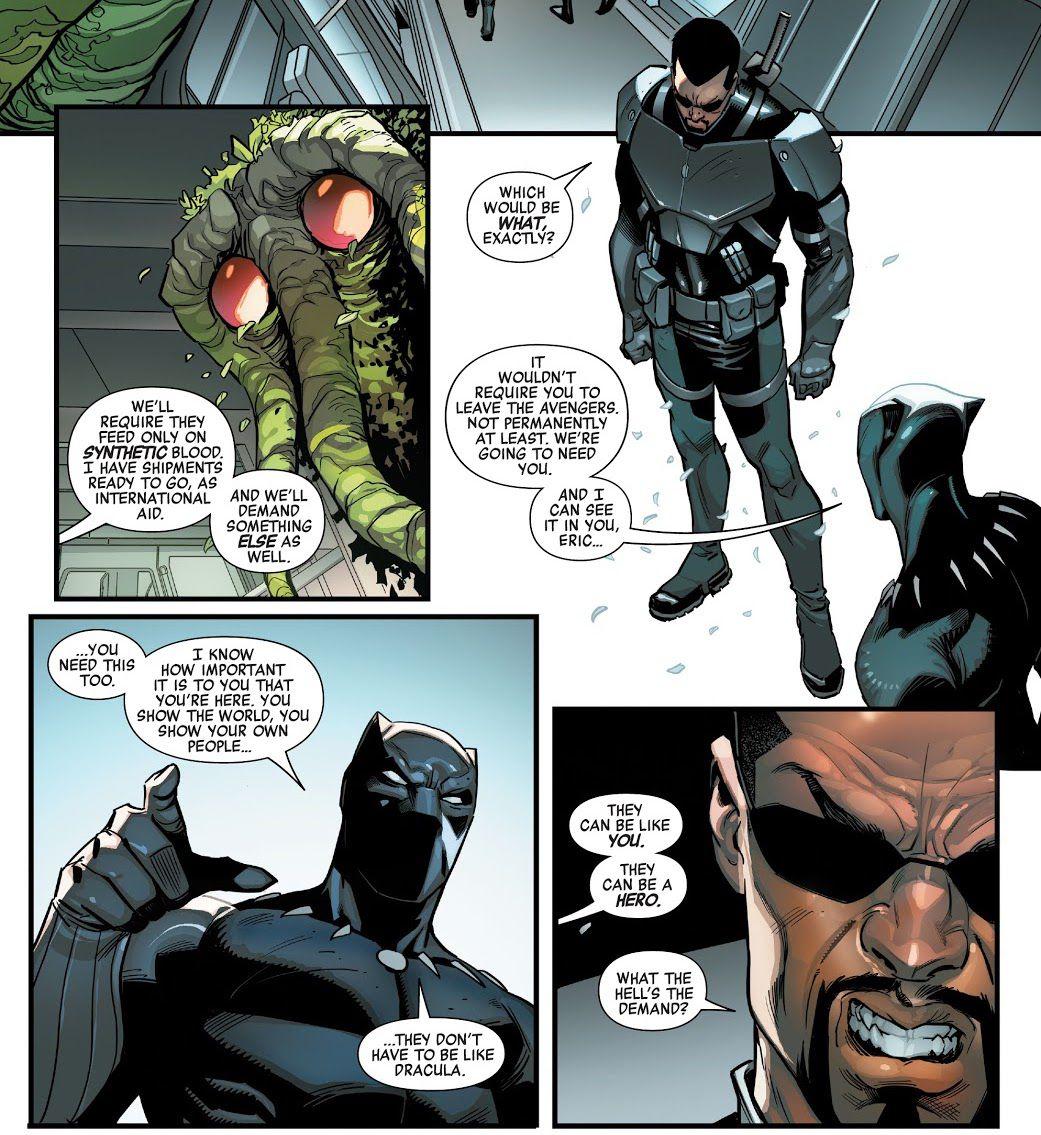 Black Panther le ofrece a Blade la oportunidad de mostrar a su