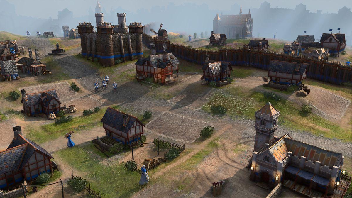 Una ciudad inglesa en Age of Empires 4