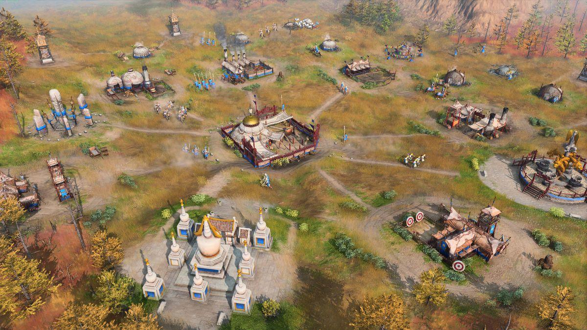 Un campamento mongol móvil en Age of Empires 4