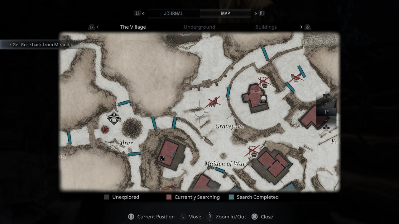 Ubicación del juego jugoso de Resident Evil Village