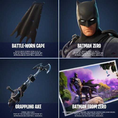 Fortntie Batman Zero Point Set