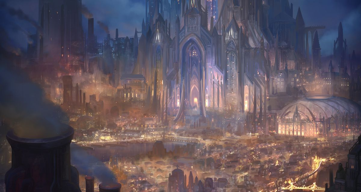 A glittering city known as Sargrad, one of the major settlements in Lawbrand.
