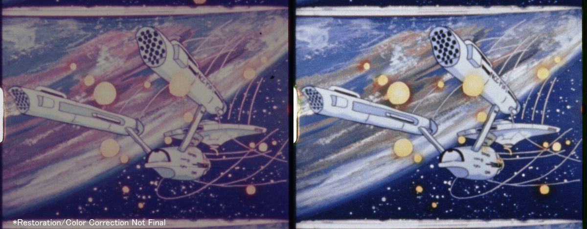 Comparaison des images du remasterisé Daicon III : vaisseau star trek