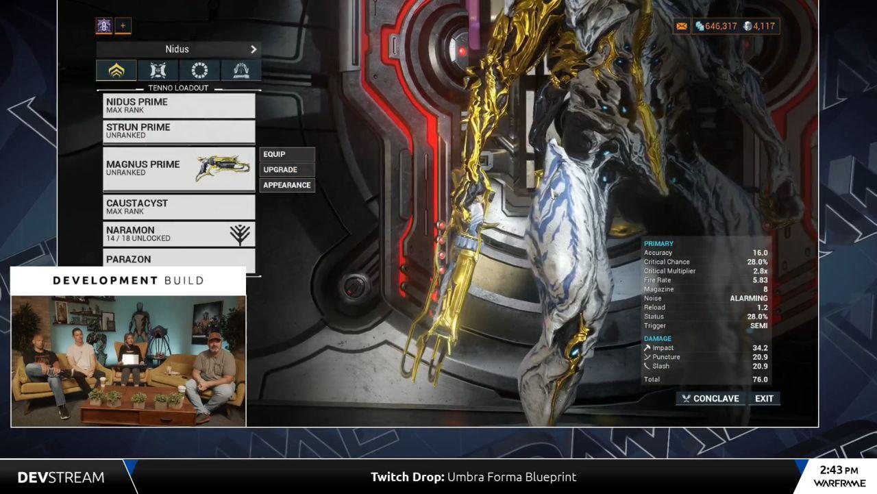 Warframe Magnus Prime