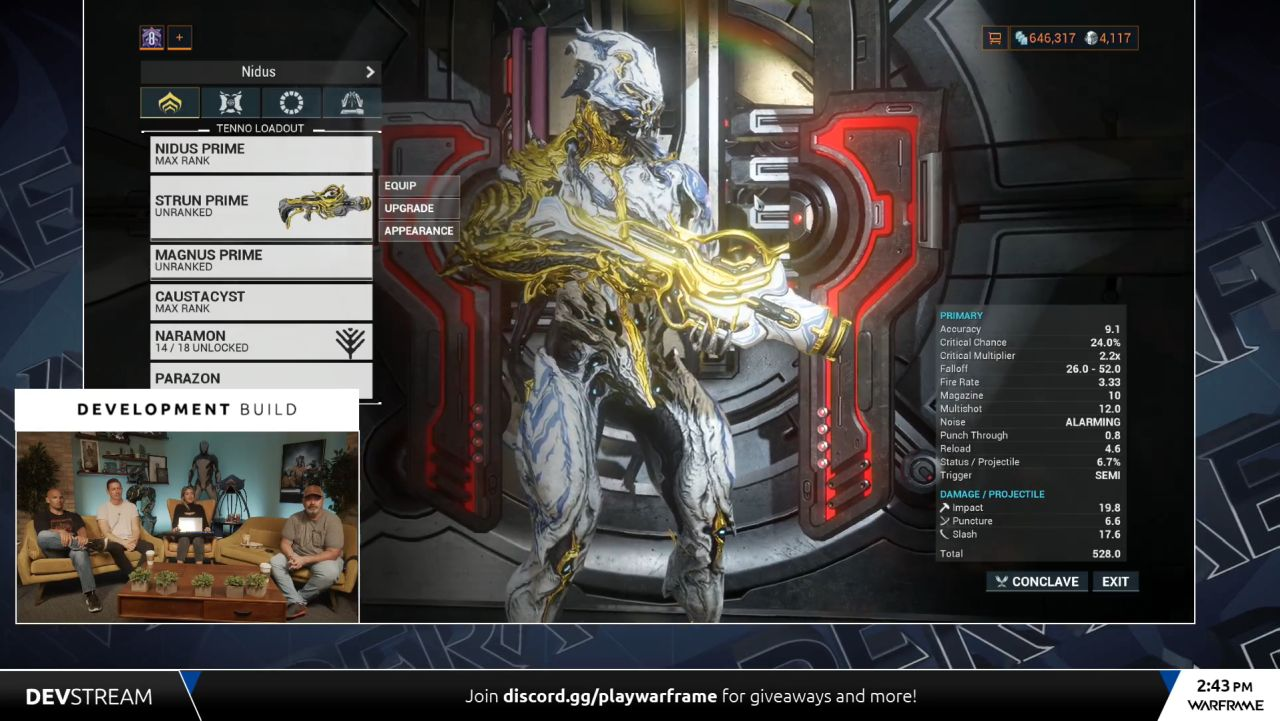 Warframe Strun Prime