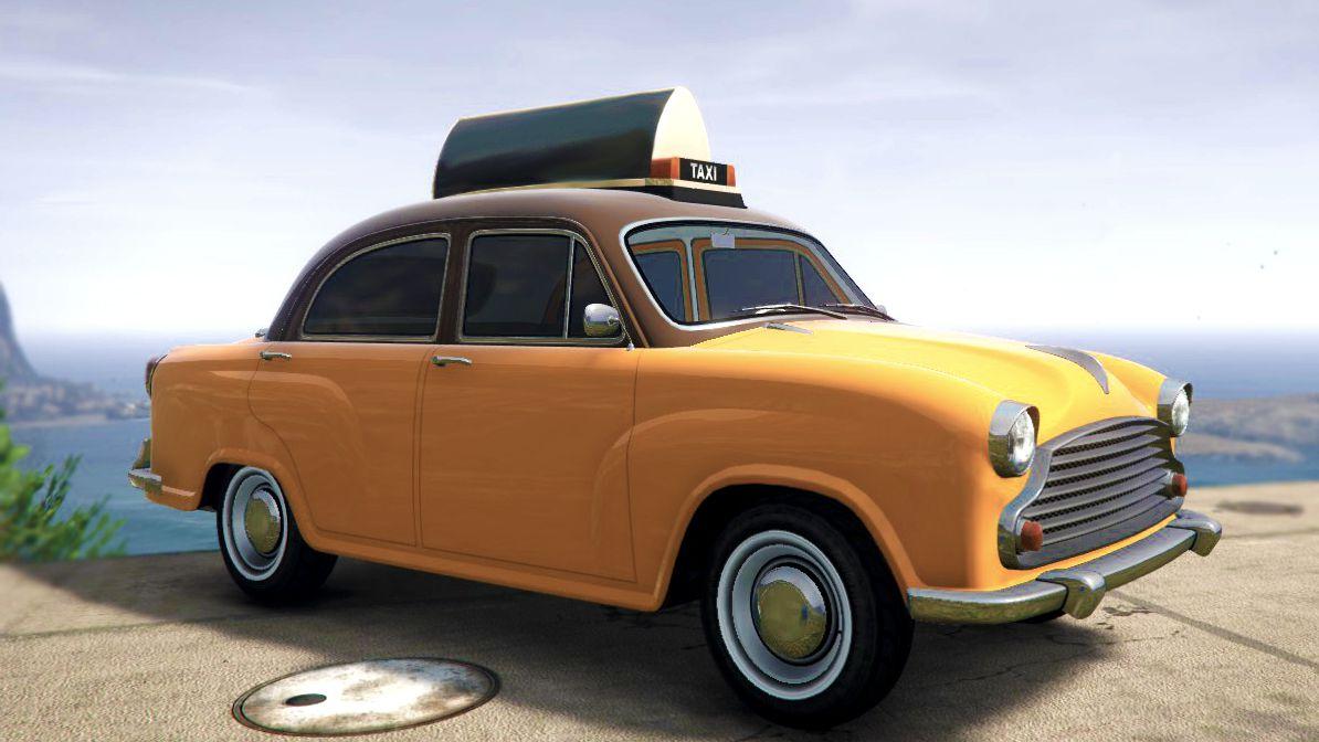 Grand Theft Auto Online: el auto de la dinastía Weeny con la librea personalizada de Familiga Cabs