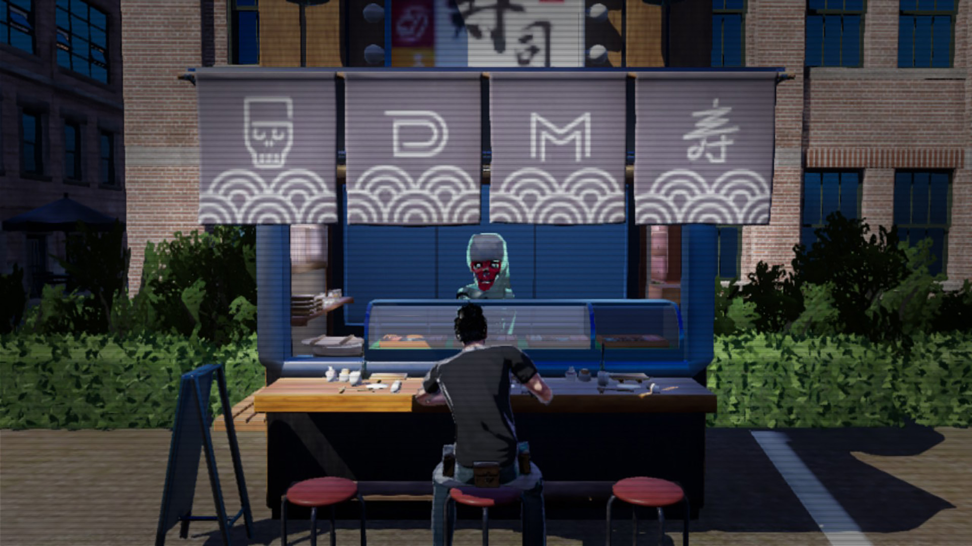 No More Heroes 3 sushi stand