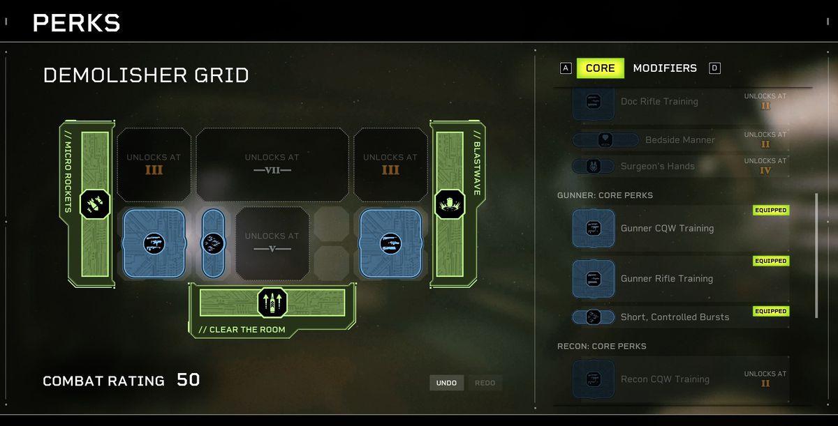 Aliens: Árbol de habilidades de élite de Fireteam