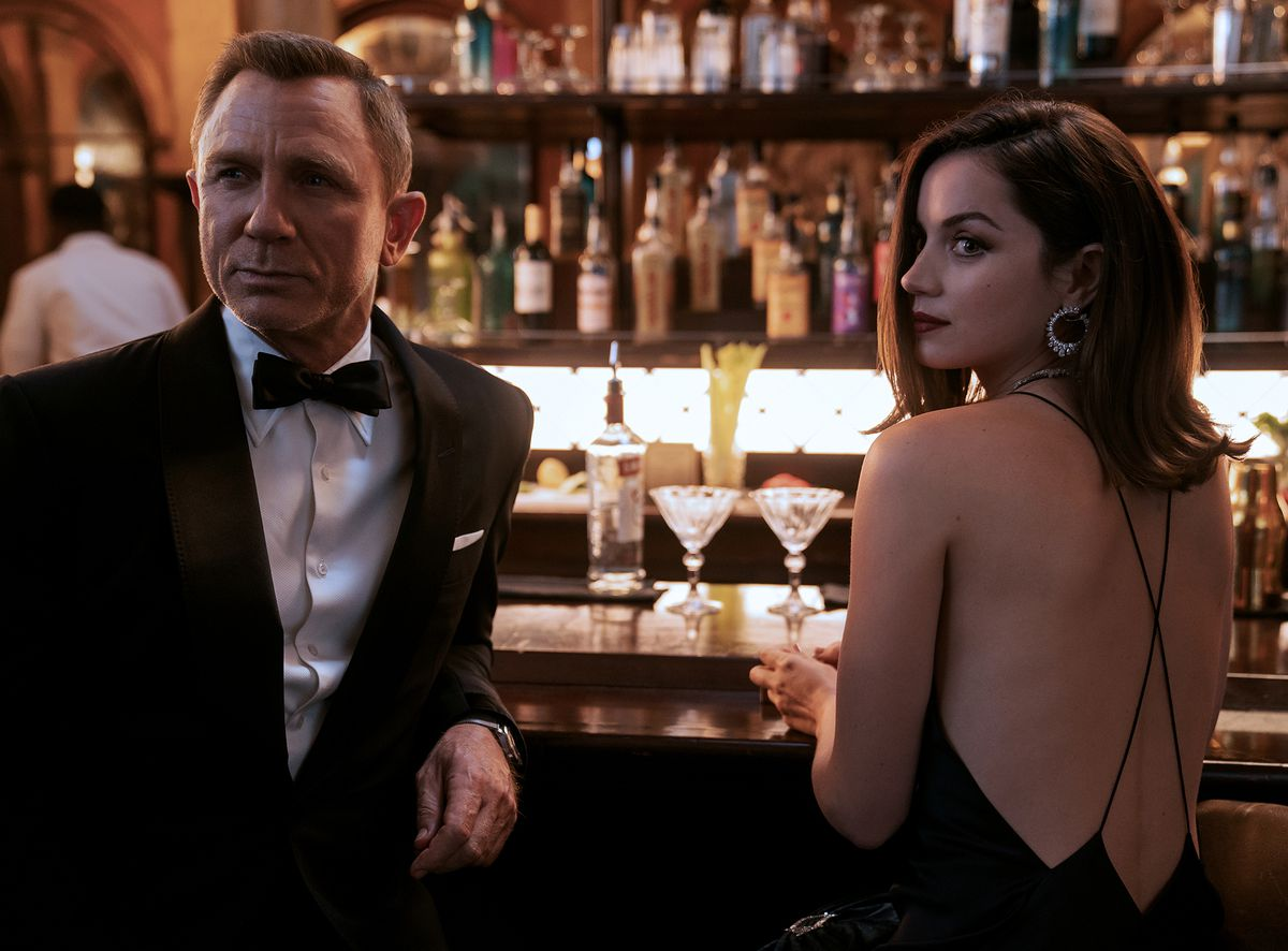 Daniel Craig and Ana de Armas as James Bond and CIA agent Paloma in No Time to Die