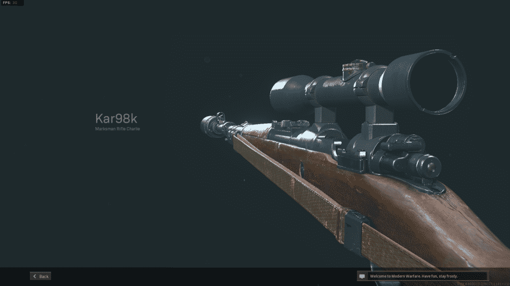 Vista previa de Warzone Kar98k