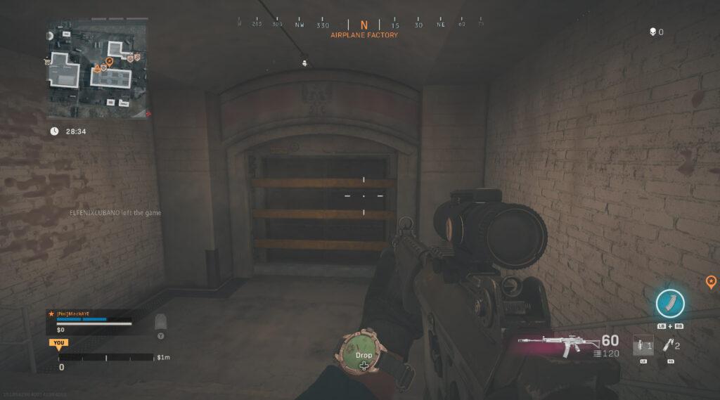 Puerta del búnker secreto de Warzone