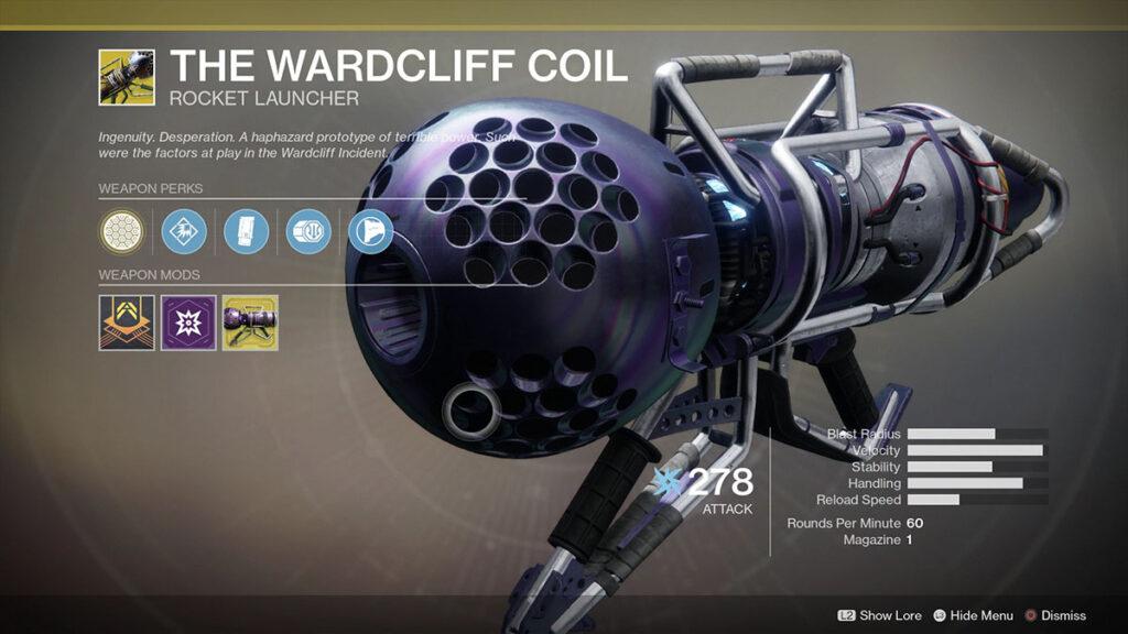 fate 2 wardcliff bobina exótica